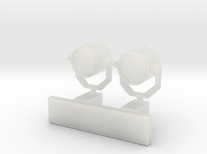 1:96 scale Search Light Wall Stand - set of 2 3d printed