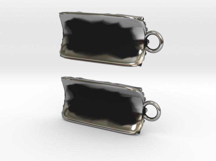 Groovy Bend earrings 3d printed