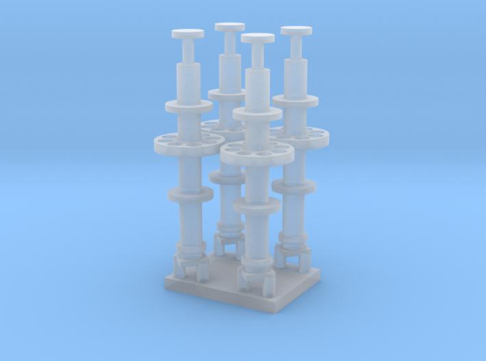1/96 scale Mast antenna radio 3d printed
