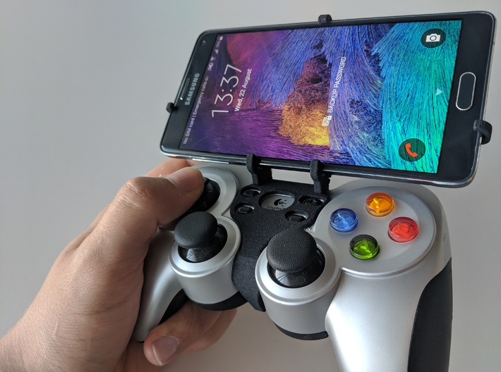 Logitech F710 & Asus ROG Phone II ZS660KL - Front 3d printed Front rider - full view