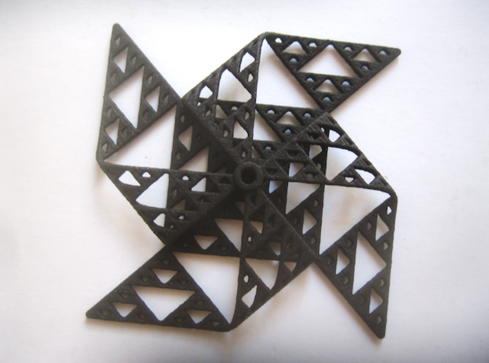 Sierpinski triangle windmill 3d printed