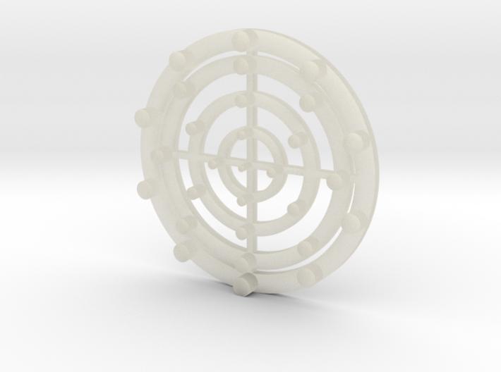 Target Coaster 3d printed