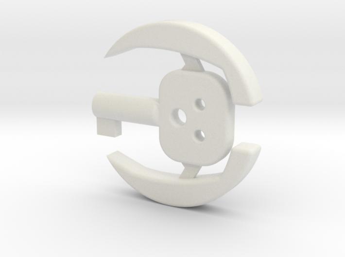 Concealed Cuff Key 3d printed