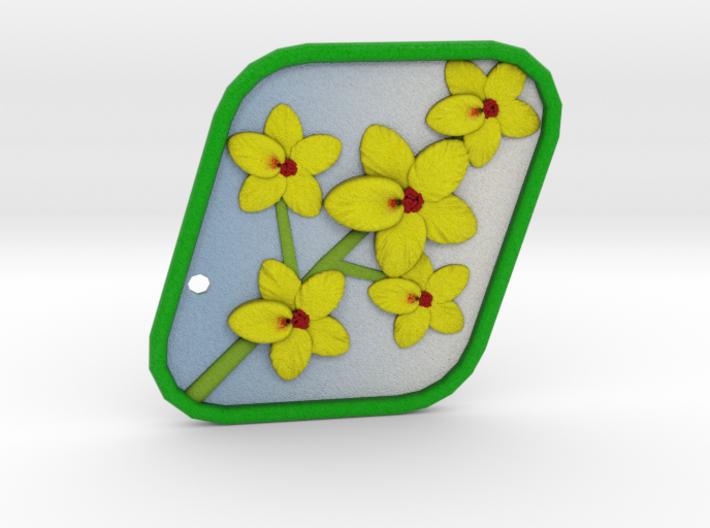 Palo Verde Blossom Pendant 3d printed