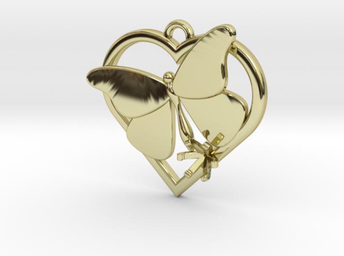 Heart Butterfly (Offset 4.28mm) 3d printed
