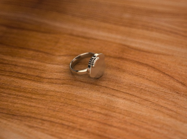 Pikabu Classical Ring Silver 6size 3d printed