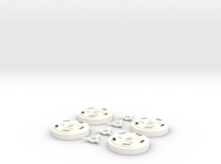 1/8 Halibrand Wheel Centers 3d printed