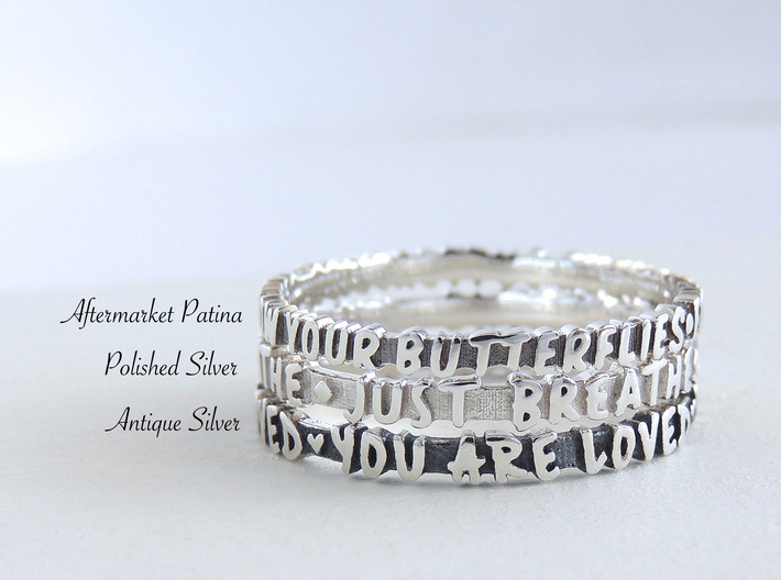 Born To Sparkle Ring (Multiple Sizes) 3d printed Silver Finishes