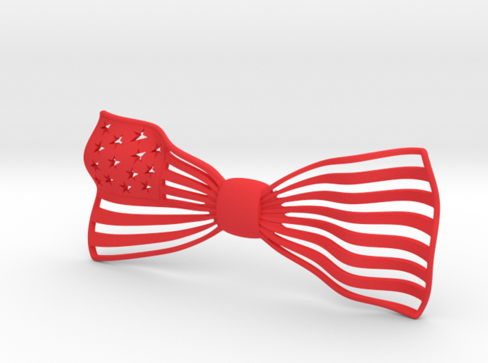 The Flag Bow Tie 3d printed Rendering of The Flag in red