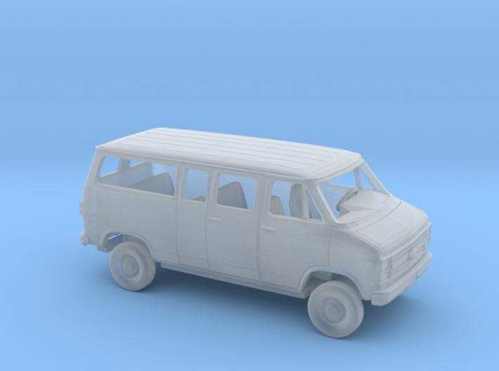 1/87 1984 Chevy G Van Split Side Split Rear Door 3d printed