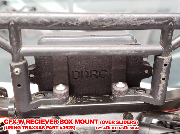 CFX-W  RECEIVER BOX MOUNT 3d printed Simple Installation to the Chassis