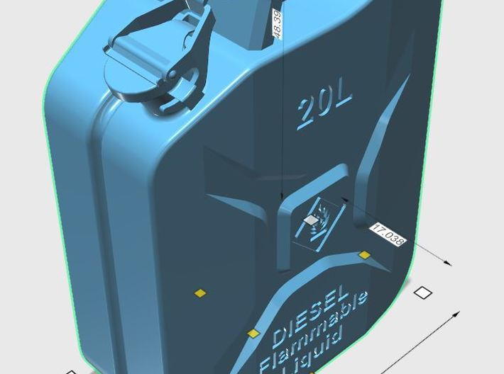 Jerry Can Diesel HD 1\10 3d printed Sizes