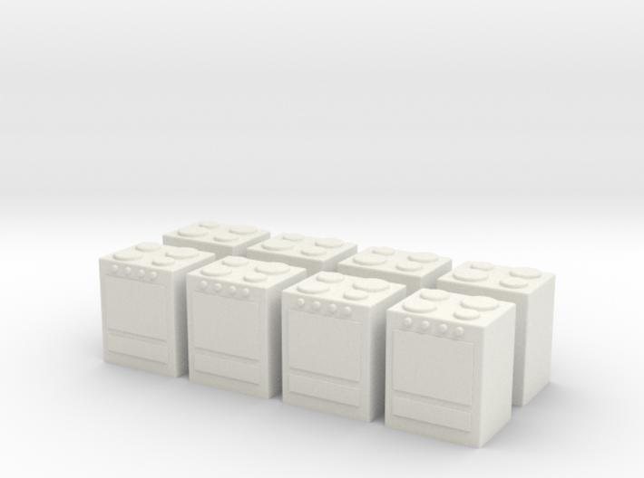 Stove (x8) 1/285 3d printed