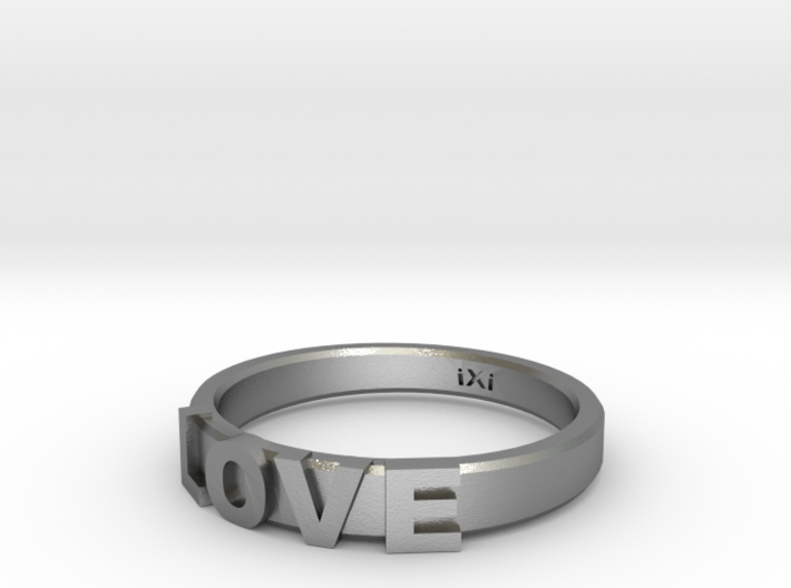 Love Ring - iXi Design - Size 4 3d printed