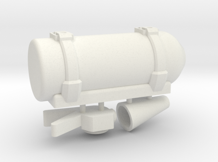 Scale Fire Extinguisher 1:10 3d printed