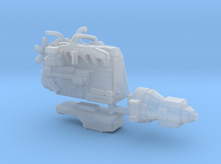 1/64th Diesel Truck Engine #1 3d printed