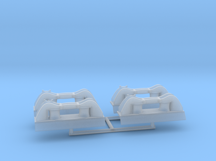 1/72 DKM Side Small Roller Fairlead Set x4 3d printed