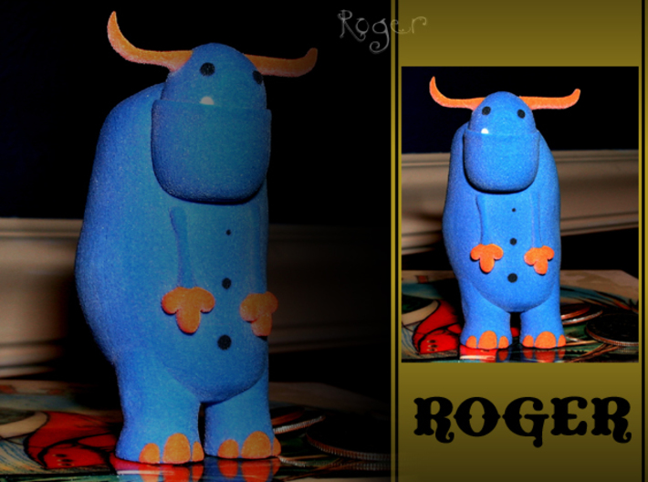 Roger 3d printed Need to talk? Let it all out? Well your problems are solved my friend! Roger is the best listener there is! No matter what you have to say Roger will be there to hear you out. He never judges or interrupts and can always keep a secret!