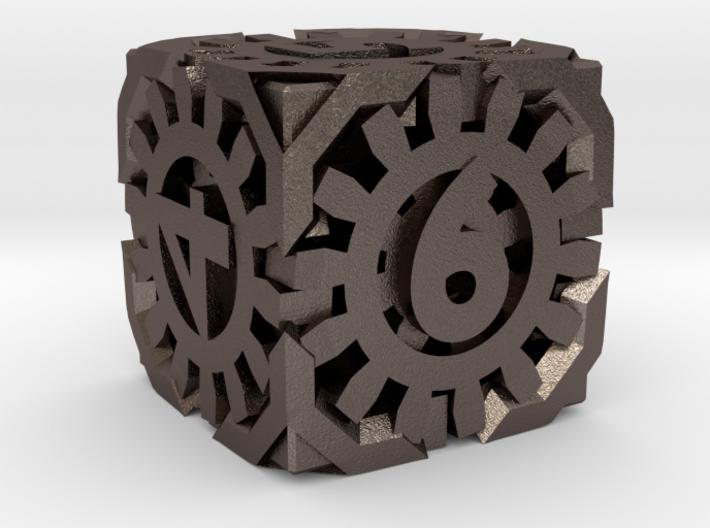 Steampunk D6 hollow 3d printed