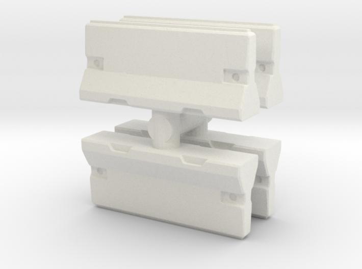 Traffic Barrier set (x4) 1/100 3d printed