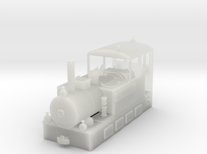 Freelance H0e model tramway loco - n.2 3d printed New freelance narrow gauge tramway locomotive H0e