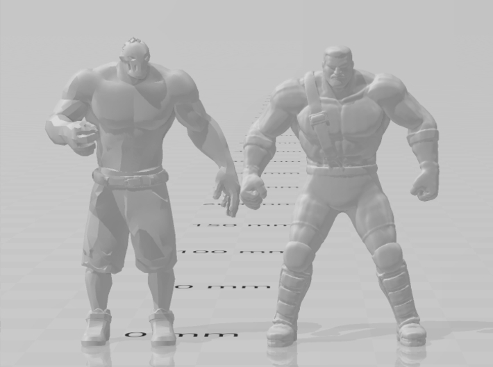 Final Fight Haggar DnD miniature for games rpg 3d printed