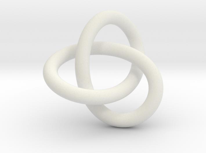 Tri Knot Pendant 3d printed