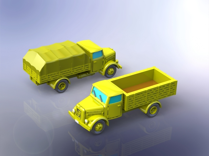 German KHD S3000 Trucks 1/144 3d printed