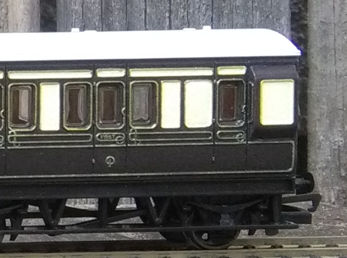 4-Wheel Coach Ducket 3d printed Finished example. The coach is from Hornby - only the ducket is for sale here!