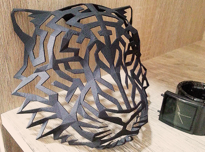 Tiger Head (M) Faux Taxidermy 3d printed
