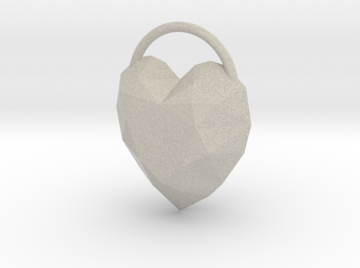Large Heart Pendant for Necklace 3d printed