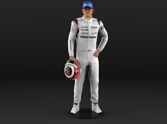 Nico Le Mans 24H 2015 1/8 Standing Figure 3d printed