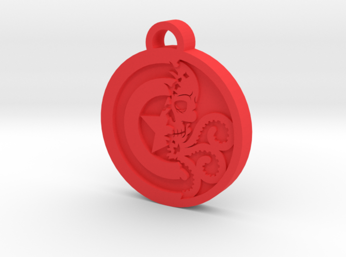 Captain America / Hydra  Keychain 3d printed