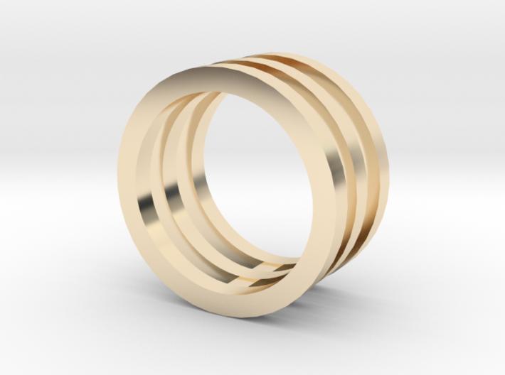 Innovation inspired rings 14-karat roses gold ring 3d printed