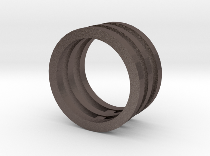 Innovation inspired rings 14-karat roses gold ring 3d printed
