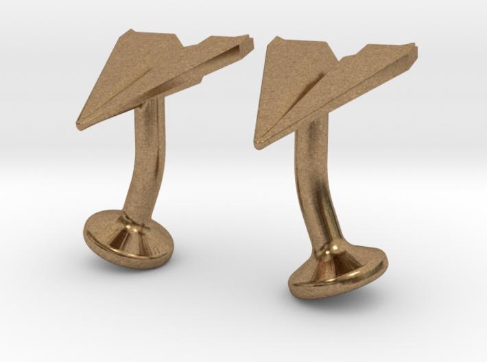 Paper Airplane Cufflinks 3d printed