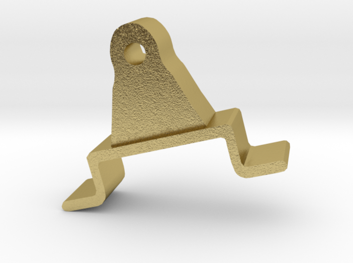 Brake Appliance: bracket (test/brass) 3d printed