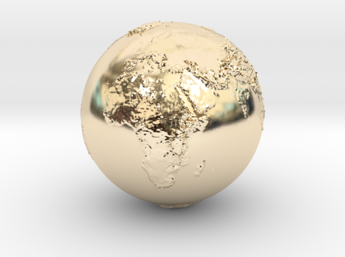 Earth Relief Hollow 3d printed