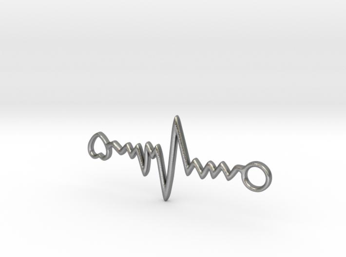 Heart Beat Pendant 3d printed