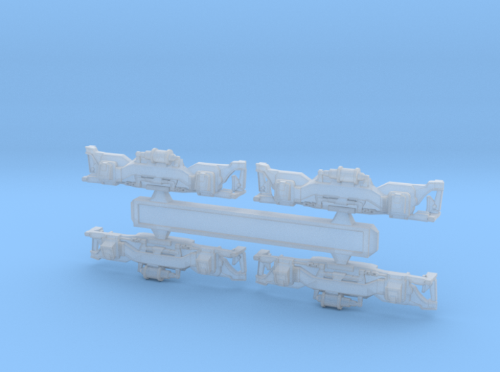 Z Scale S2 Truck Details 3d printed