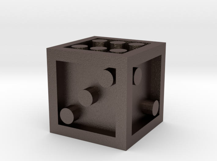 Six Sided Dice Dot 3d printed