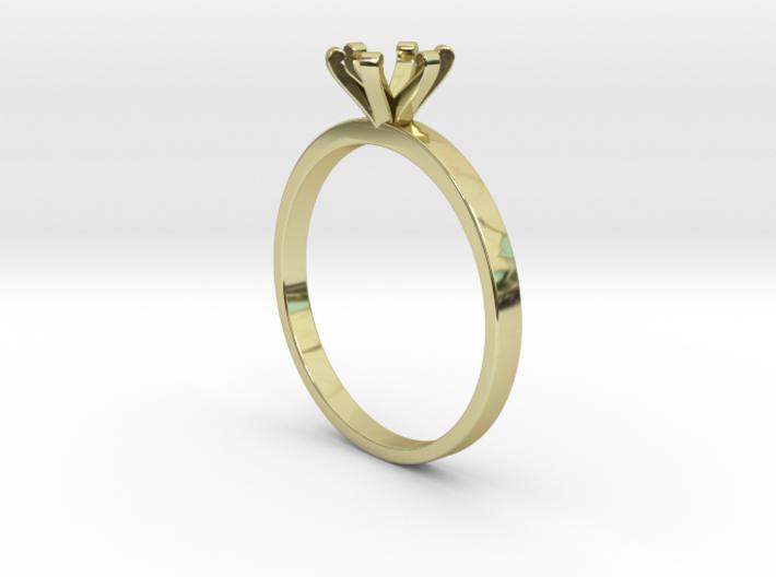Plain Size 8 Ring - 6mm Gem - 6 prong v3 3d printed