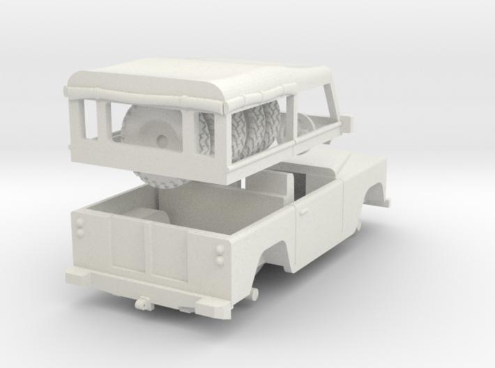 Land Rover Soft top Split 1/72 3d printed