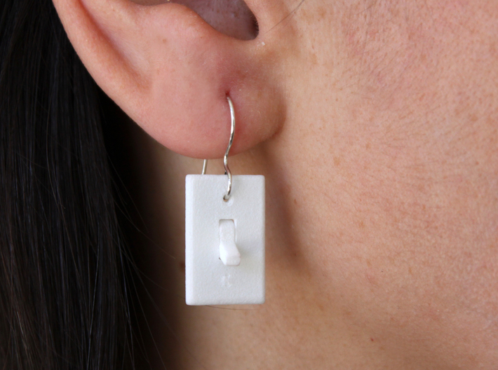 Light Switch Earrings 3d printed