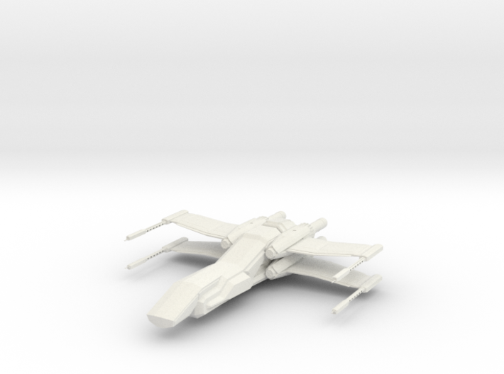 1/144 Penguin Deep Space Fighter 3d printed