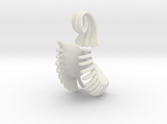 Venus Fly Trap Pendant 3d printed