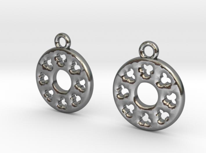 Rosette type 3 [earrings] 3d printed