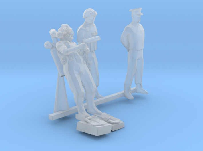 HO Scale Seal Team 3d printed This is a render not a picture