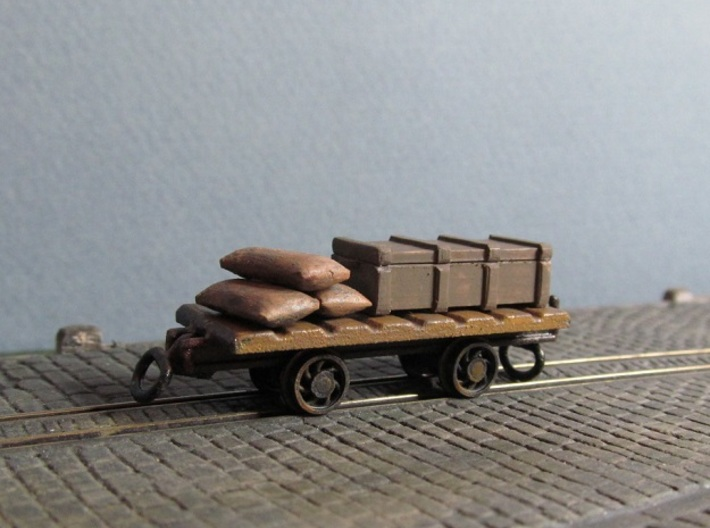 009 Colliery Utility Wagons X3 3d printed