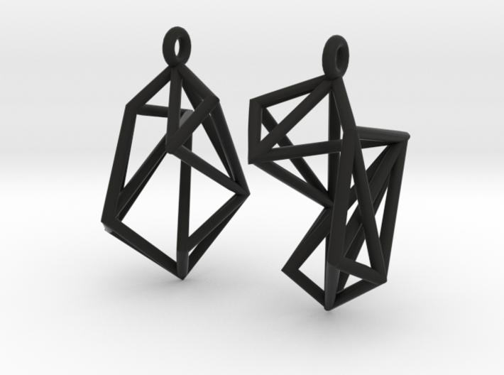 FutureChique Earrings 3d printed
